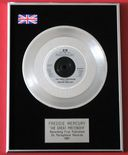 FREDDIE MERCURY - THE GREAT PRETENDER Platinum Single Presentation Disc